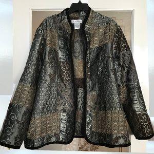 Maggie Sweet 2X Open Blazer Jacket Shimmer
